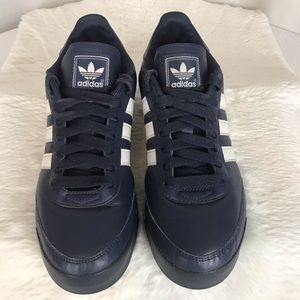 ADIDAS ORION LACE UP BLUE WHITE STRIPED SHOES